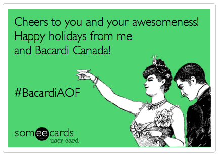happy holidays from casiestewart & bacardicanada