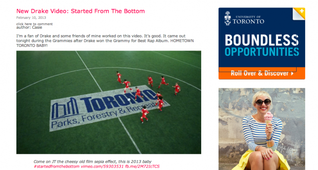 drake started from the bottom video toronto TFC