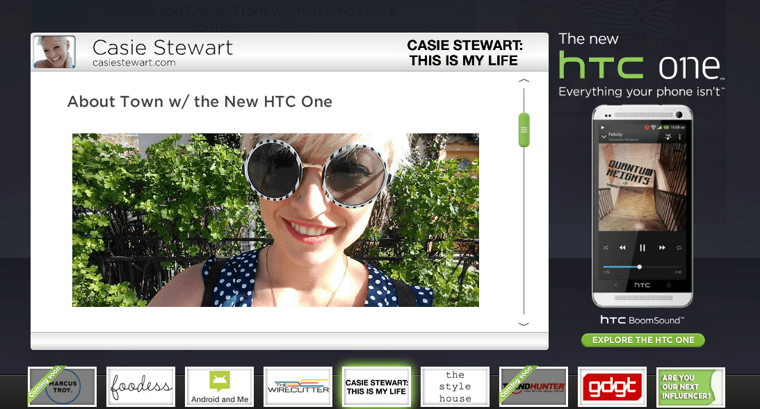 casie stewart HTC one influencer #htcone