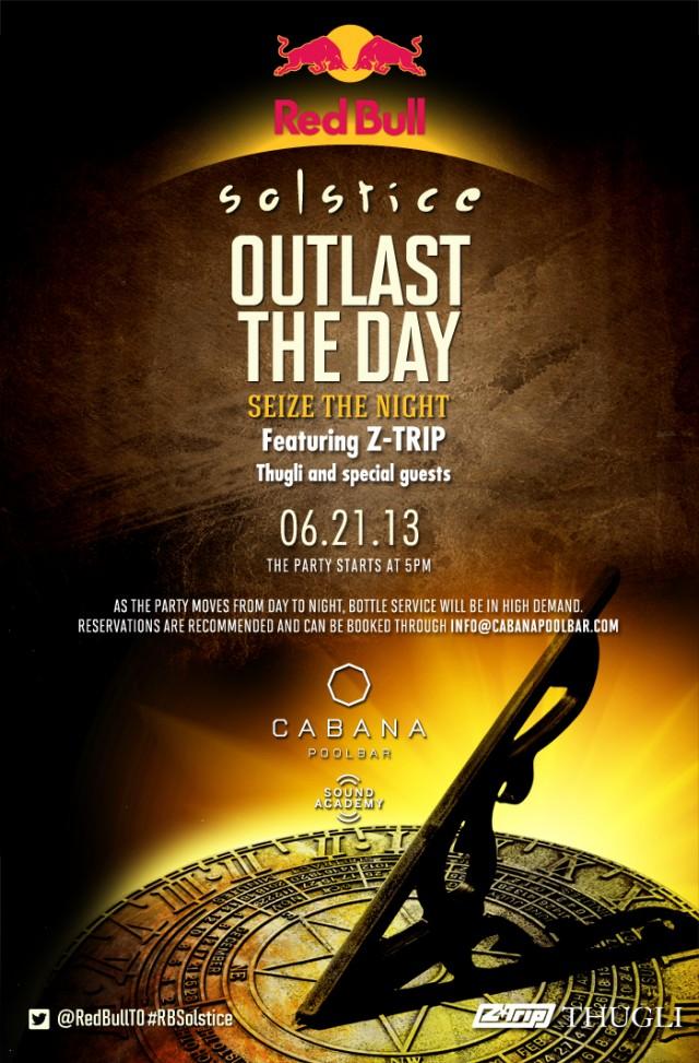 Red Bull Solstice on Friday at Cabana Pool Bar