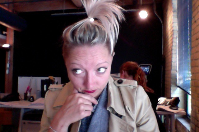 Casie at Her Desk