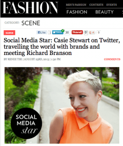FASHION Magazine - Social Media Star