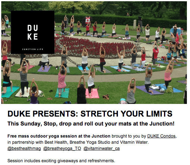 Free Outdoor Yoga in the Junction
