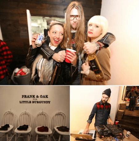 Frank & Oak for Little Burgundy Launches by the Fire
