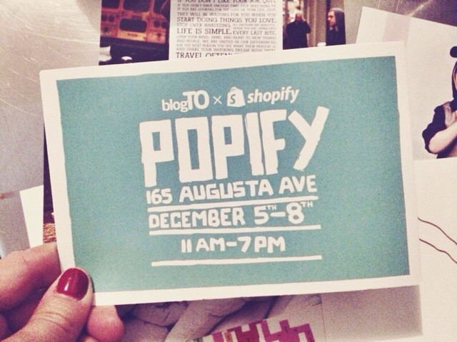 BlogTO + Shopify Open Popify This Weekend