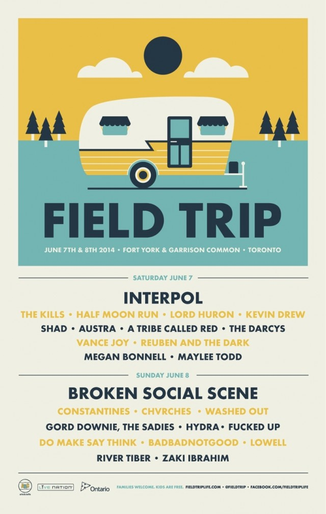 Field Trip Poster - new artists