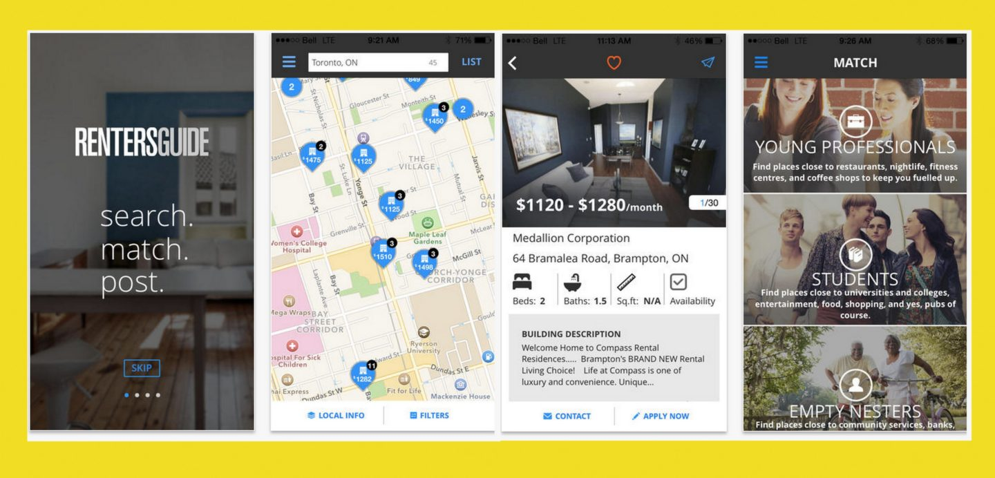 Renter's News App by Yellow Pages