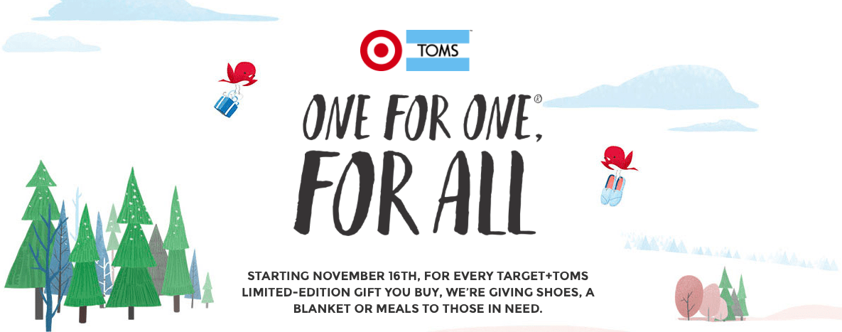 Fashion | Gifts that Keep on Giving, TOMS for Target