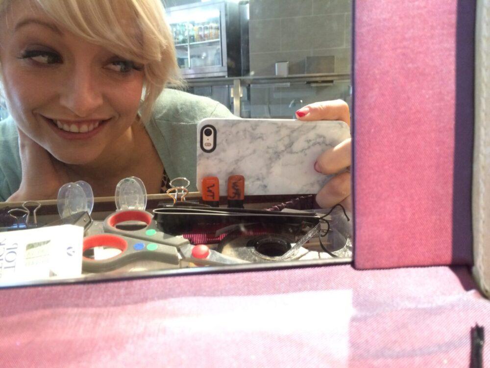 @AirOptixColors Gemstone Green, @casiestewart #blonde #blogger