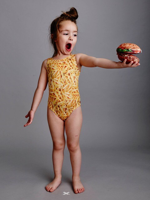 Burgers, fries, cats, dogs ! Bathing Belle Swimwear #madeIncanada