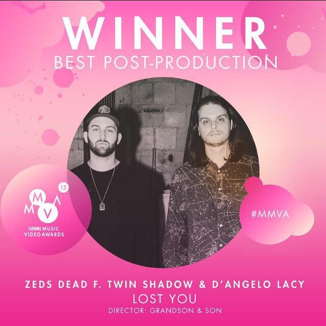 1188 Won! Best Post Production 2015 MMVA