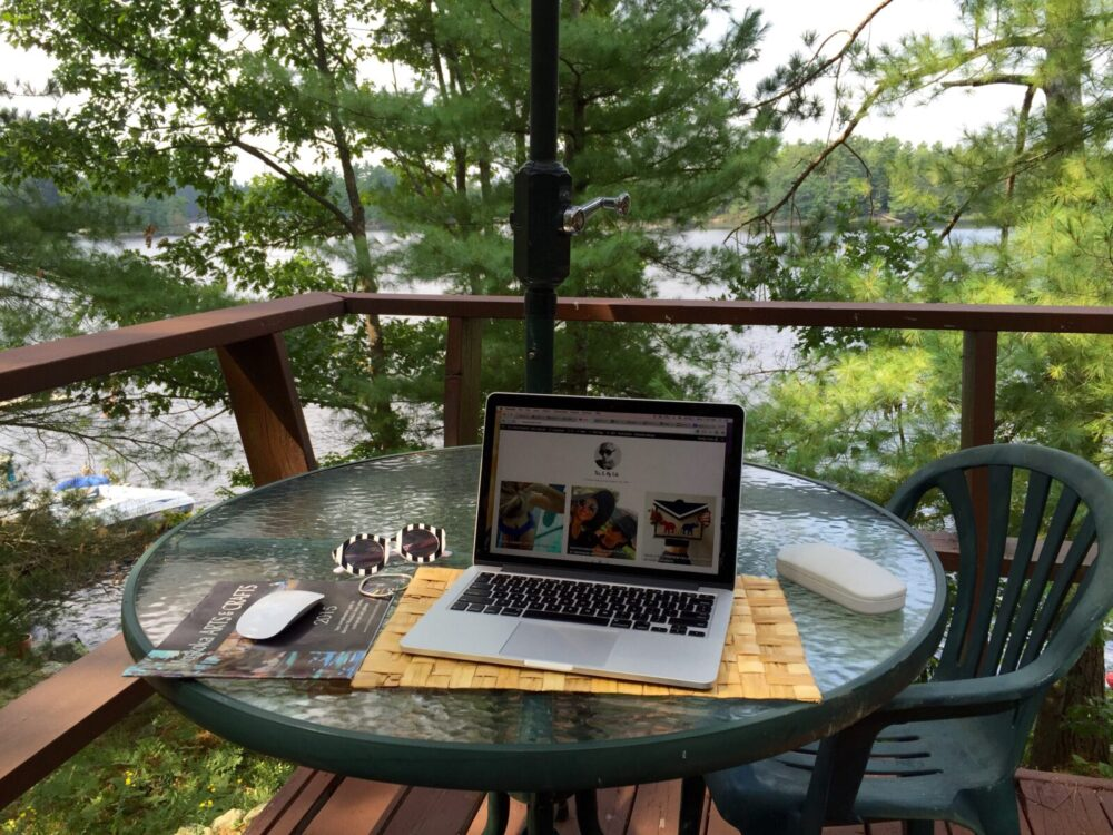 Working from the cottage in Muskoka, casie stewart, cottage