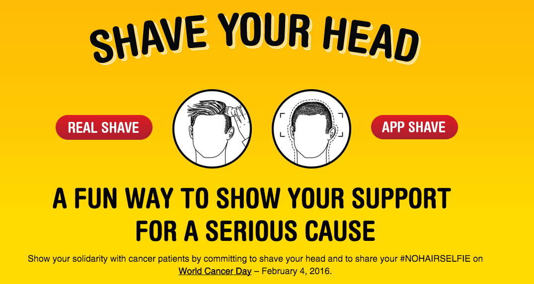 #NoHairSelfie – Shave Your Head for World Cancer Day