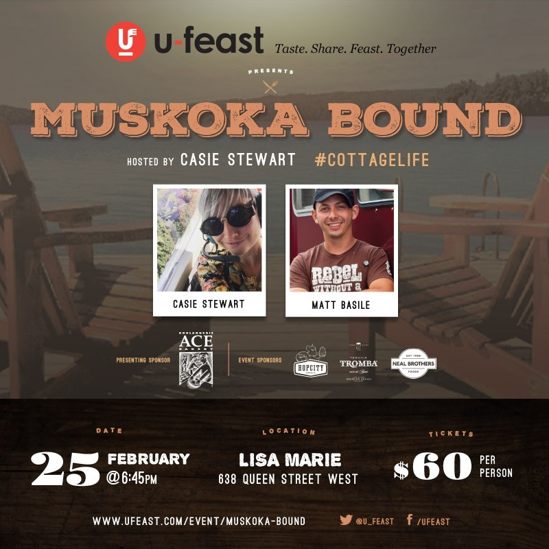 Events | Muskoka Bound Dinner @ Lisa Marie, Feb. 25th!