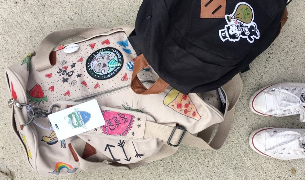 casie stewart, DIY, backpack, design, travel, camp, camper, camping, tattoos, stay home club, #escapeanddiscover, Ford, NO FUN PRESS
