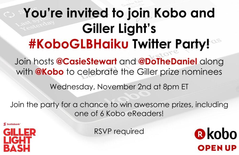 twitter-party-invite, kobo, gillerprize