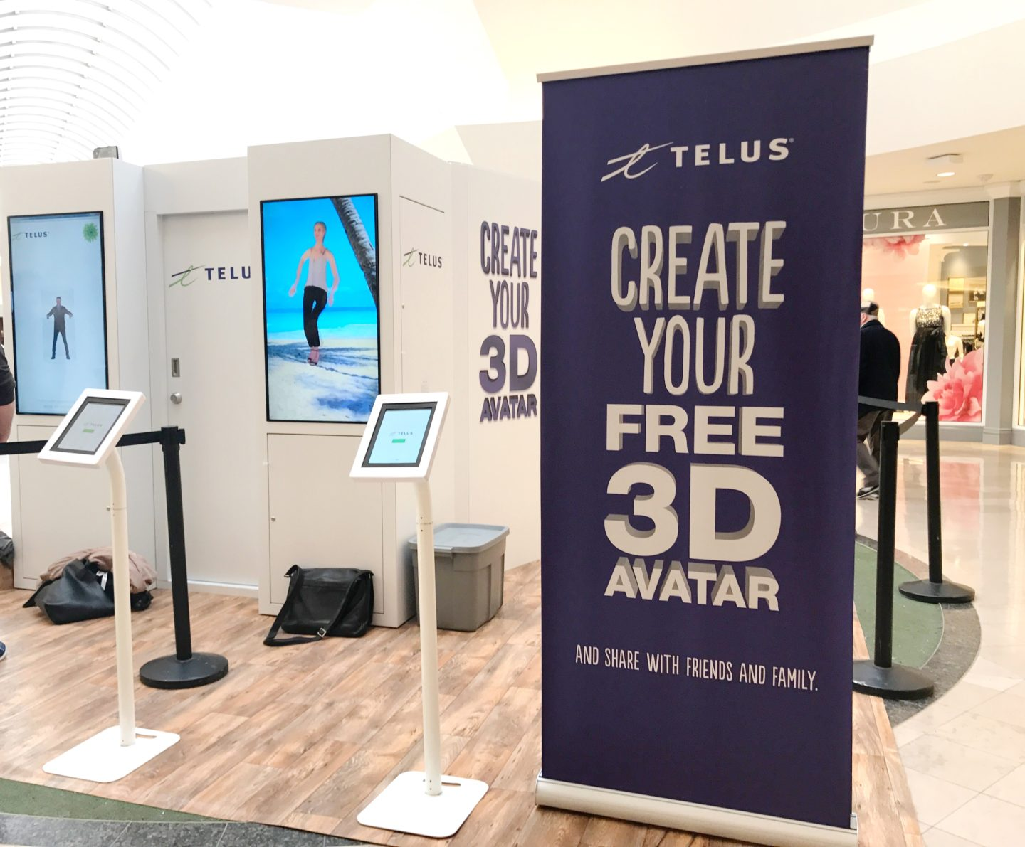 I Got 3D Scanned by Telus at Sherway Gardens, it was COOL.
