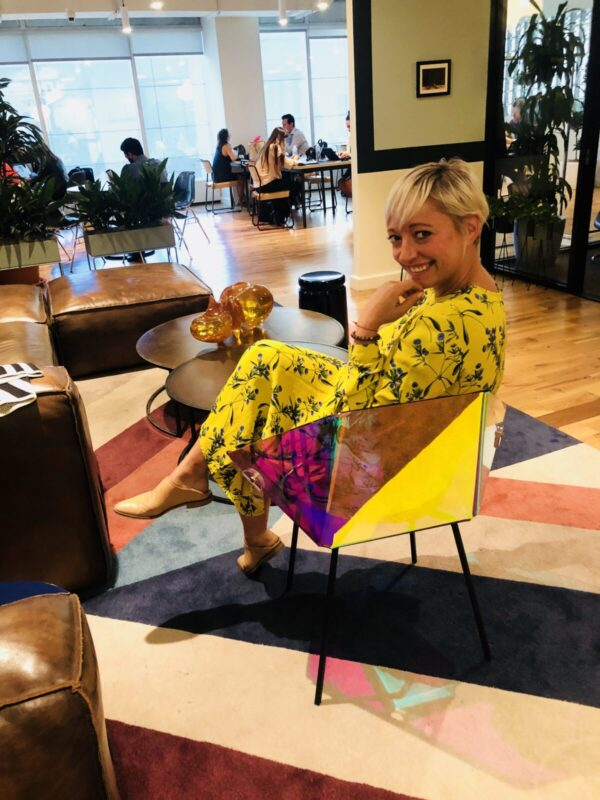 casie stewart, wework, raymitheminx, toronto, yellow dress, influencer, blogger