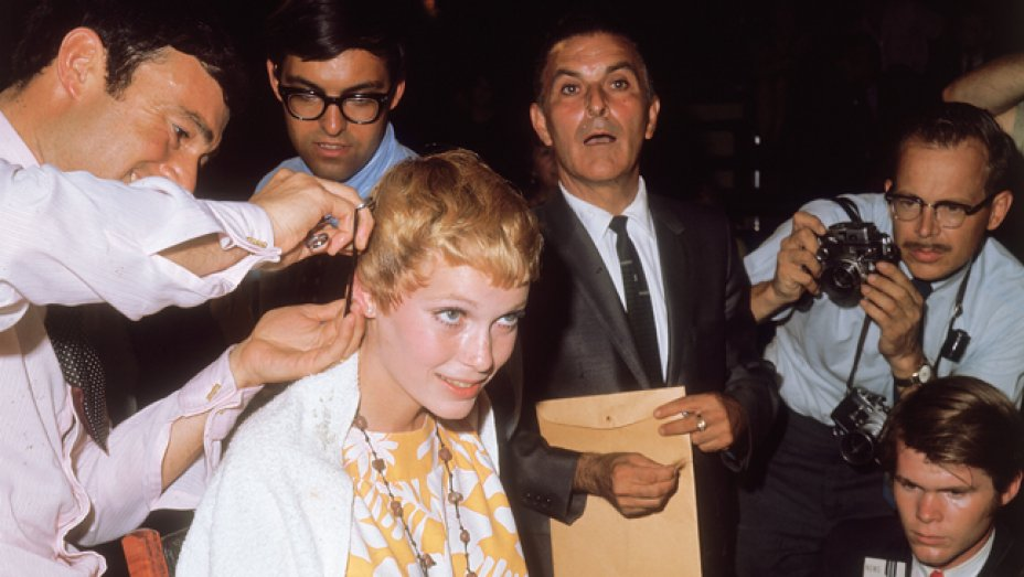 sassoon toronto, casie stewart, short hair, blonde, vidal sassoon, mia farrow