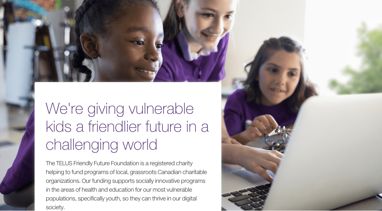 TELUS Friendly Future Foundation: Helping Youth & Communities Across Canada