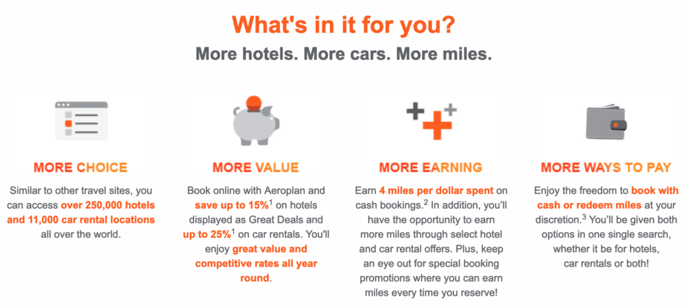 Book, earn, repeat! Enjoy a special double the Aeroplan miles offer until April 14, 2019, and earn an additional 4 bonus miles per dollar spent.