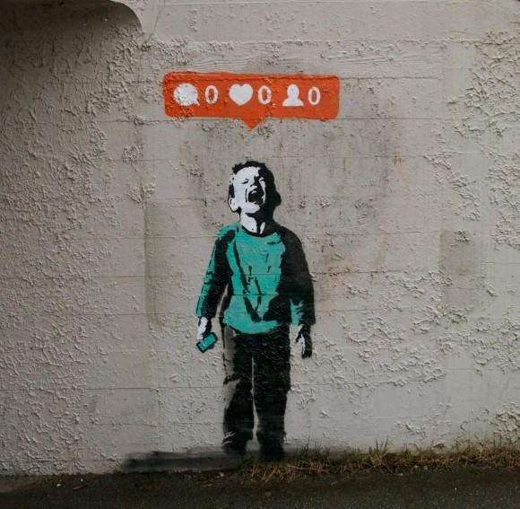 Nobody Likes You, street art by Banksy on Casie Stewart's blog THIS IS MY LIFE