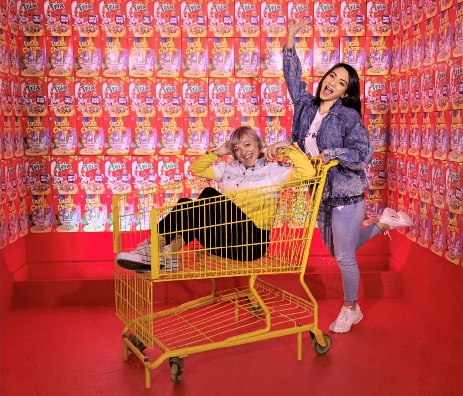 Casie Stewart, Cory Lee at HideSeek Instagram pop-up in Toronto. HideSeek Toronto has 15+ great spots to take fun photos for Instagram. It's running until June 2nd, 2019. See blog for tickets & info.  - Casie Stewart
